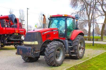 Kyiv, Ukraine - August 2, 2020: Case IH tractor 225 and at Kyiv, Ukraine on August 2, 2020. Case IH is a brand of agricultural equipment