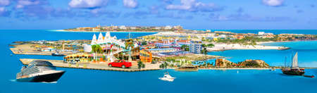 Aruba - Dutch province Oranjestad - beautiful Caribbean Island. Stockfoto