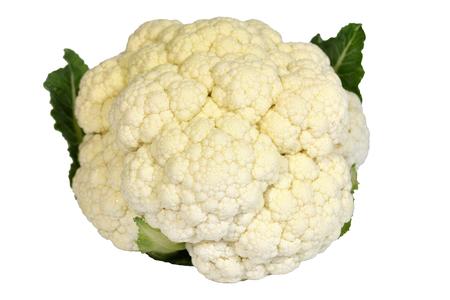 head of cauliflower: Fresh head white cauliflower Stock Photo