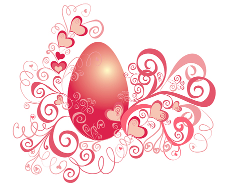 pasch: Easter background with egg