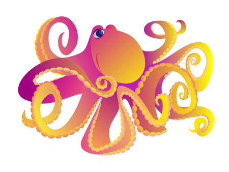 anemones: cartoon octopus