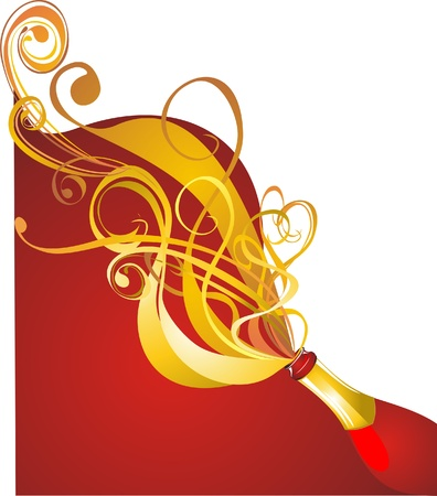 Champagne  Celebration concept Vector
