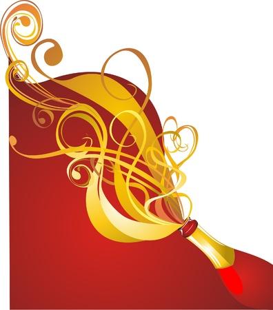 Champagne Celebrazione concetto Vettoriali