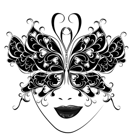 Carnival mask  Butterfly masks for a masquerade  Vector