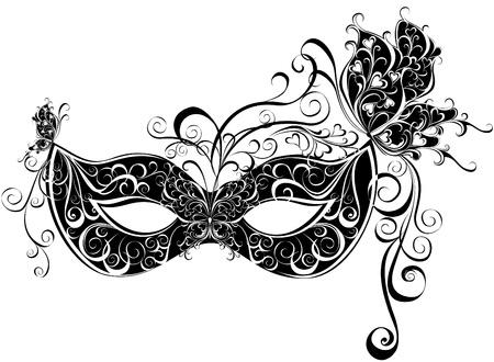 carnaval masker: Carnaval masker Maskers voor een maskerade Stock Illustratie