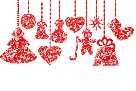 Stylized christmas set  Vector  Stock Vector - 16258329