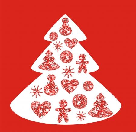 Vector christmas tree Stock Vector - 16258380