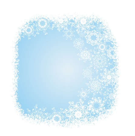 Grunge decorative frame with snowflakes Stock Vector - 16258446