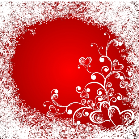 romance image: Christmas hearts, celebration background  Illustration