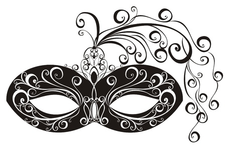 theatrical performance: Masks for a masquerade  Vector party mask