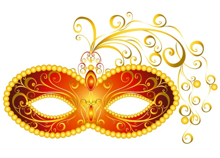 venice carnival: Masks for a masquerade  Vector party mask