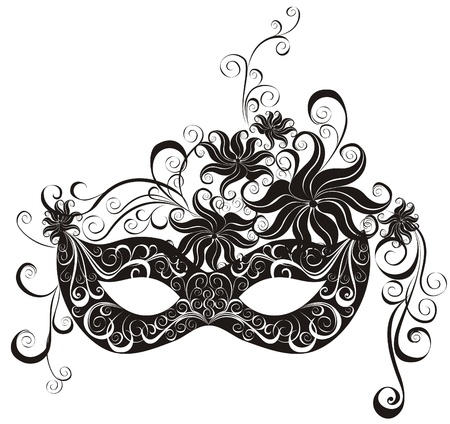 carnival mask: Masks for a masquerade  Vector party mask