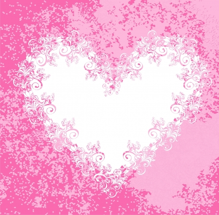 Valentine s day vector background with heart Vector