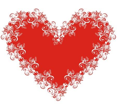 Floral Heart Stock Vector - 16258517
