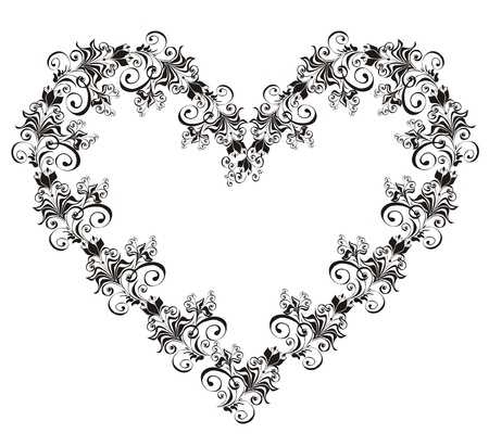 hearts and flowers: Floral Heart