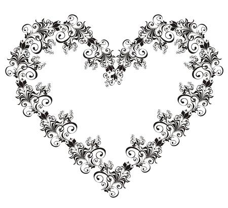 heart pattern: Floral Heart