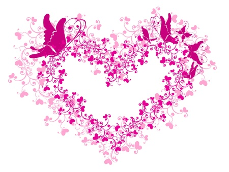 Floral Heart Stock Vector - 16258538