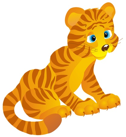 Tiger, vector illustration Stock Vector - 16258512