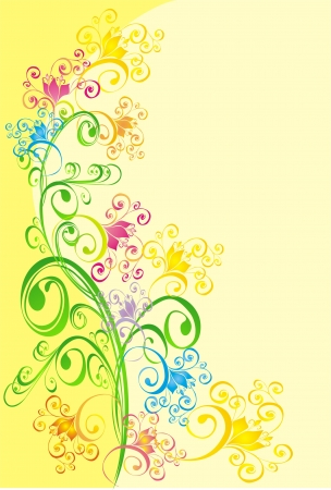 Abstract background with floral ornament, vector Stock Vector - 16258557