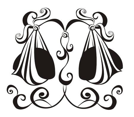 ungleichgewicht: Libra Astrologie Zeichen Vector zodiac Illustration