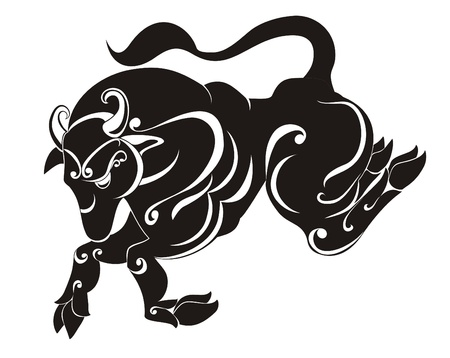 Taurus  Astrology sign  Vector zodiac Stock Vector - 16258503