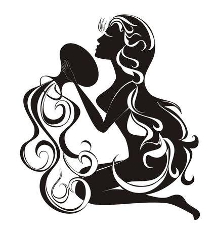 Aquarius  Vector zodiac
