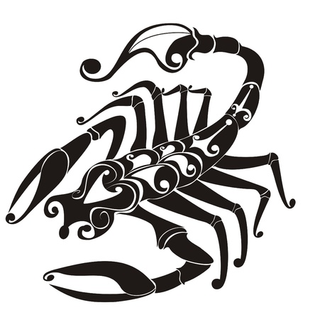 scorpion: Scorpion vecteur zodiaque Illustration