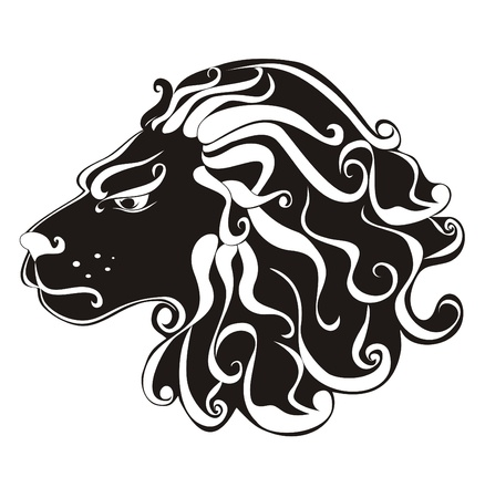 leo: Tattoo Lion  Astrology sign Leo  Vector zodiac Illustration