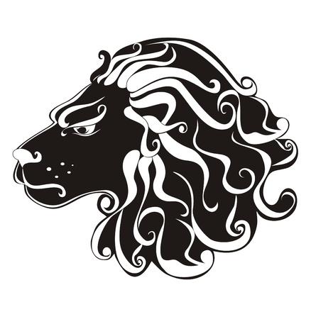 Tattoo Lion  Astrology sign Leo  Vector zodiac Stock Vector - 16258509