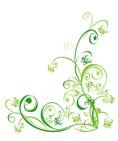 floral scroll: Floral ornament, Element for design, vector illustration
