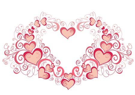 Dekorative Herzen, Element für Design