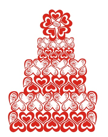 wedding reception decoration: Wedding cake, illustration Illustration