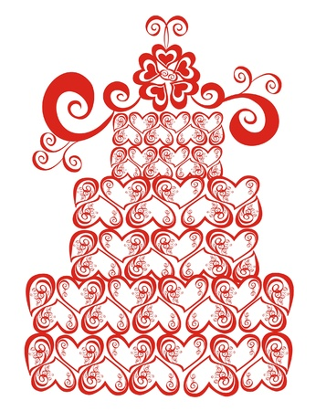 Wedding cake,  illustration Stock Vector - 16389030