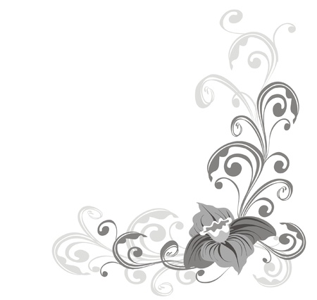 flores: Floral ornament, Element for design, vector illustration