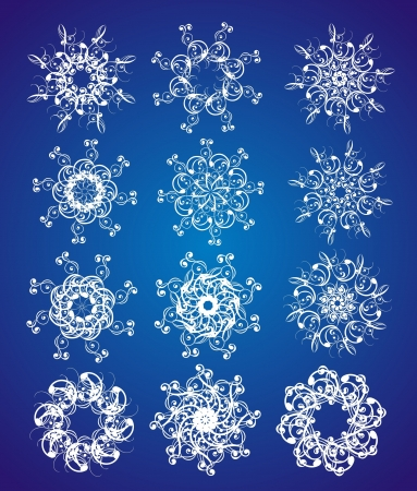 Snowflake set Stock Vector - 16389126