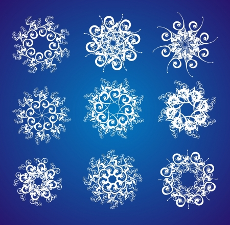 Snowflake set Stock Vector - 16389116