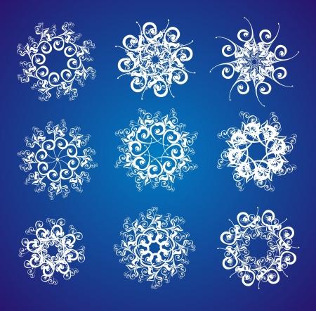 Snowflake set Stock Vector - 16389116