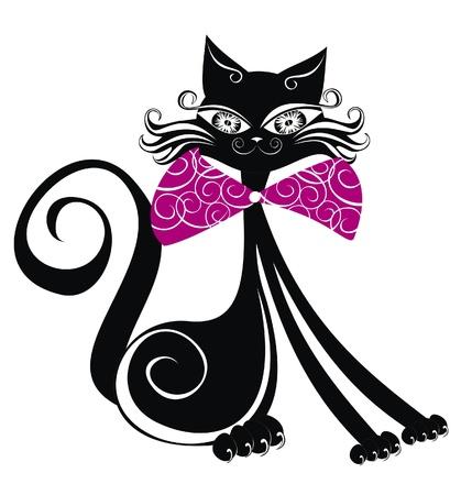 gato dibujo: Gato negro