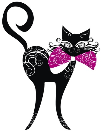 Black cat Stock Vector - 16389077