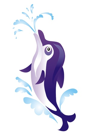 Dolphin isolated on a white background Vector