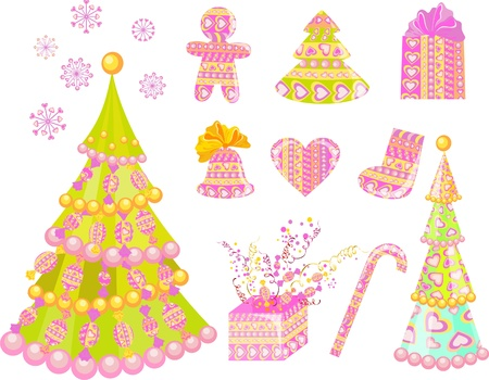 Set of christmas decoration Stock Vector - 16423543