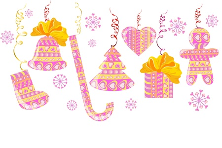 Set of christmas decoration Stock Vector - 16389186