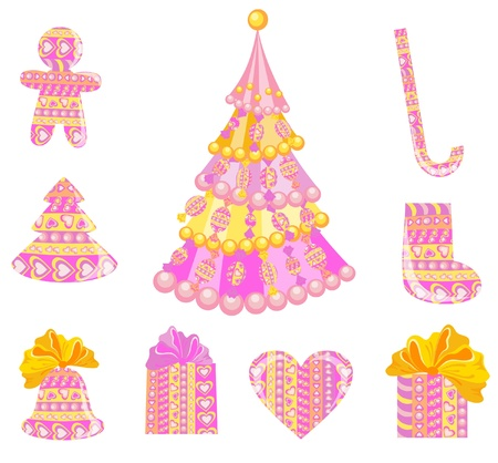 Set of christmas decoration Stock Vector - 16389219