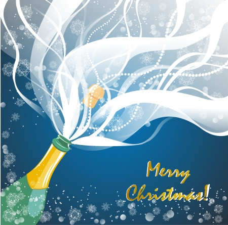 Greeting card with champagne explosion Stock Photo - 16468472