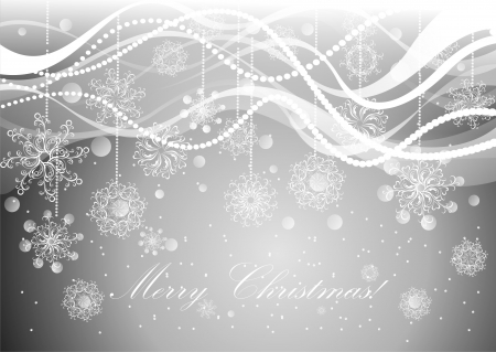 silver ribbon: Christmas silver background