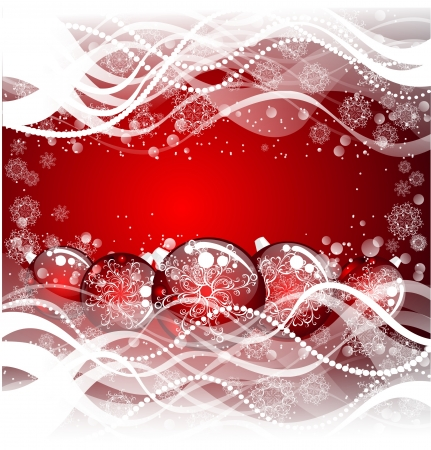 Christmas background with red evening balls Stock Photo - 16389255