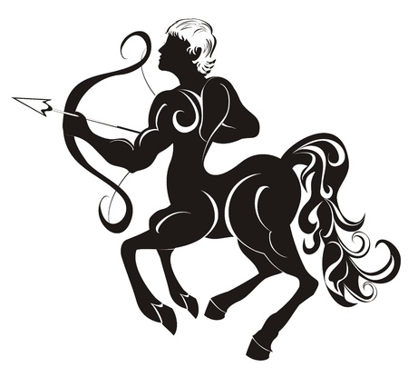 Sagittarius  Astrology sign   Stock Vector - 16738782