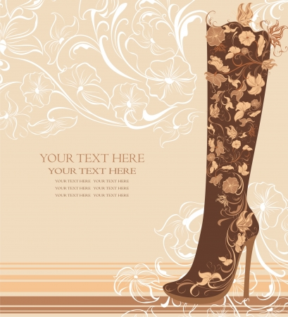 heels shoes: Fashion shoes on a floral background