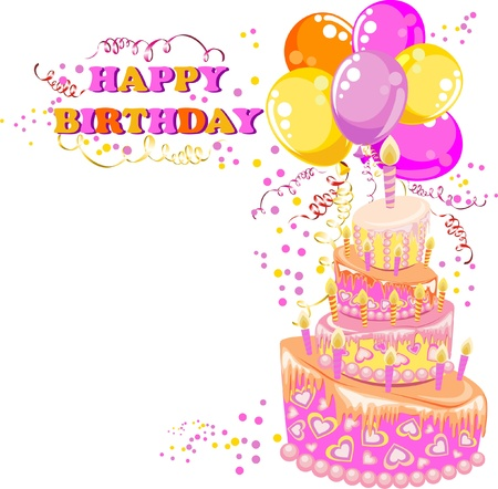 Happy birthday card Stock Vector - 16468213