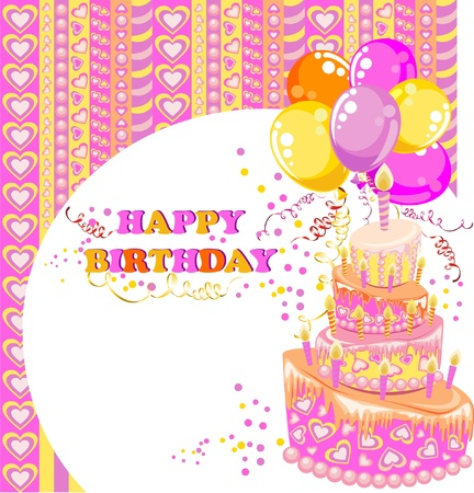 Happy birthday card Stock Vector - 16468235